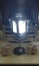 Brand New Garden, Home or Xmas Contemporary Free Standing Silver Lantern