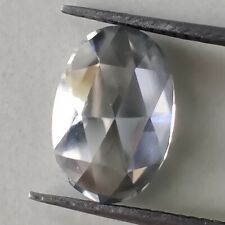 Rose Fancy Cut Loose Moissanite 4 Ring 2.38 Ct 10.16x8.61mm Vvs1 Light Gray Oval