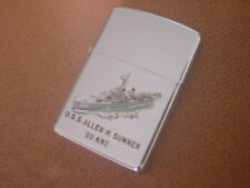Vintage Zippo Lighter ..... USS Allen M Sumner .... DD 692 .... Pat. 2517191