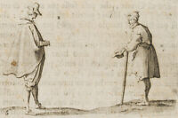 Nach Jacques CALLOT (*1592 Nancy-1635), Die Begegnung, a.e. Folge, c. 1622, Rad.
