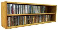 Solid Oak desktop or shelf CD Cabinet- Honey Oak Model 203-3