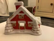 Cosy Christmas Cottage Tea Light Holder House Gift Pretty