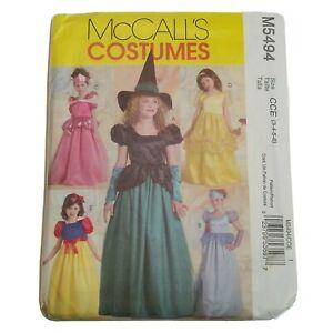 McCalls Sewing Pattern M5494 Uncut Girls Princess Witch Dress Halloween Costume