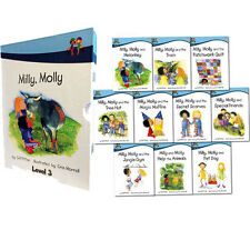 Milly Molly Level 3 Children 10 Books Collection Box Set School Reading Age 5-7
