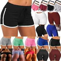 Damen Shorts Kurze Hose Sommer Freizeit Yoga Running Fitness Sporthosen Hotpants