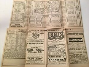 April 1876 - ERIE RAILWAY Pocket Time Table Eastern Section