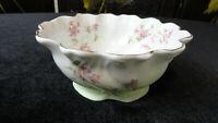 Vintage Antique SET OF 10 Fine China RAMEKINS Custard Cups/Bowls - Green & White