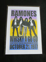 RAMONES : WHISKY A GO GO 1977  : A4 GLOSSY REPO POSTER
