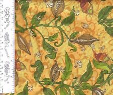 Prairie Field - Seed in Wind Yellow Avlyn 3506 501 100% Cotton Fabric by  1/2 yd