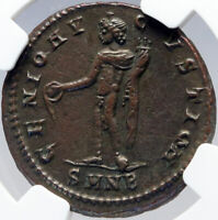 MAXIMINUS II DAIA Authentic Ancient 310AD Follis Roman Coin GENIUS NGC i82915