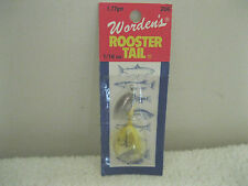 New Worden's Roostertail 1/16 oz. Yellow Color (RT 206)