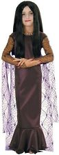 Morticia Addams Family Gothic Vampire Witch Fancy Dress Halloween Child Costume
