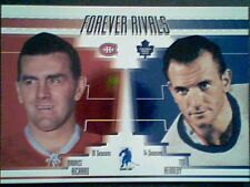 MAURICE RICHARD / TED KENNEDY  FOREVER RIVALS INSERT CARD / 100  SP