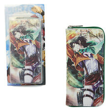 "Attack on Titan 3.5x7.5"" Wallet - LEVI ACKERMAN Shingeki no Kyojin (Purse)"