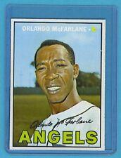 1967 Topps Baseball Card #496 Orlando McFarlane (California Angels) EM AJ00766