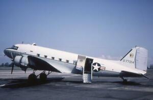 35mm Aircraft Slide USAF 44-77214 Douglas C-47D Skytrain HQ 3rd AF 1967 Northolt