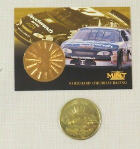 1997 Pinnacle Mint Collection NASCAR Childress Dale Earnhardt Gold Coin & Card