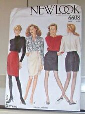 New Look Skirts Raised Waist WQrp Tulip Pattern 6608 Ms 6-16