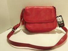 AURIELLE LEATHER BURGUNDY HANDBAG NEW WITH TAGS- SEE DESCRIPTIONS BELOW & PICTS