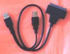 CABLE 50CM Adaptateur USB 2 ou 3.0 vers SATA 15+7 pin SSD HDD sauvegarde externe
