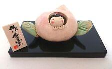 Momotaro Gogatsu Ningyo Japanese boys festival Helmet Mino yaki pottery H4cm