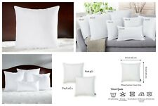 """4 X Plain Dyed White Hollowfiber Cushion Pad Inserts Inners Filler Size 18"""" 20"""""""