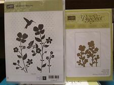 "Stampin Up ""Wildflower Meadow"" Clear-Mount Stamp Set & Embossing Folder Bundle"