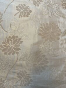 Gold Brocade Curtains Lined 210 cm drop X 207 wide