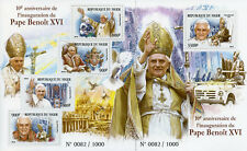 More details for niger 2015 mnh pope benedict xvi inauguration 10th 4v m/s + 1v s/s popes stamps
