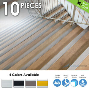 Arrowzoom Anti-Slip Strips Aluminum Stair Nosing Rubber Nose Stair Treads KK1180