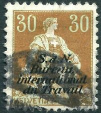 SWITZERLAND-1923 International Labour Office 30c Green & Brown Sg LB13 GOOD USED