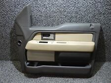 2011-2014 FORD F150 F-150 BROWN & ADOBE CREW CAB RIGHT FRONT DOOR CARD PANEL