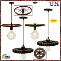 STEAMPUNK | VINTAGE GEAR WHEEL RUSTIC LIGHT| CEILING| PENDANT| INDUSTRIAL