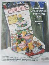 "Design Works Christmas Stocking Cross stitch kit - Sleeping Mice 5950 17"" long"
