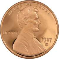 1987 S 1c Lincoln Memorial Cent Penny US Coin Choice Proof