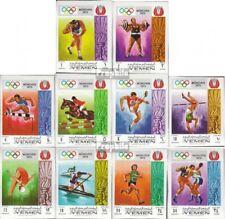 Yémen (Royaume-Uni) 903B-912B neuf 1969 olympe. Été, Munich