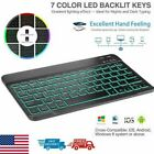 Rechargeable LED Bluetooth Keyboard for MAC iOS Android PC iPad Tablet Windows