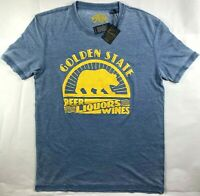 NWT NEW Men's Lucky Brand Golden State Beer Wine Liquors T-Shirt Top Tee