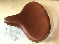 Genuine Leather HARLEY WLA WLC VL UL EL WL KNUCKLEHEAD SOLO SEAT FLATHEAD BROWN