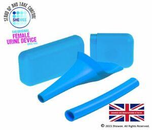 Shewee Flexi + Case - The ORIGINAL Female Urination Device - Blue