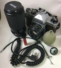 Vintage @1979 ASAHI PENTAX K1000 SE 35mm SLR Film Camera, 50mm and 70-210mm Lens