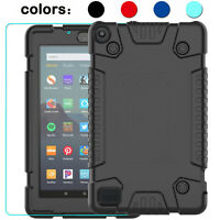 "For Amazon Kindle Fire 7"" Tablet 9th Generation 2019 Case Cover Screen Protector"