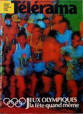 TELERAMA 1984: JEUX OLYMPIQUES_LEO FERRE_MICHAEL DOUGLAS_SEMPE
