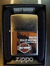 Harley Davidson Zippo 2009 National Harbor MD Winter Dealer Show Lighter NEW
