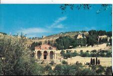 jerusalem postcard,basilica of the agony in the garden go gethsemane pan am air