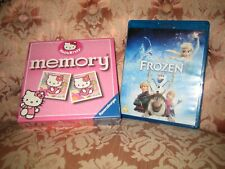 """DISNEY FROZEN BLU-RAY + NEW GAME + Puzzleball """"HELLO KITTY"""" for 3 yrs+ BUNDLE"""