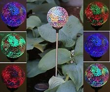 Solar Glass Ball Garden Stake Outdoor Landscape Lamp Color Change Yard LED Light