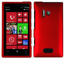 RED RUBBERIZED HARD SHELL CASE COVER FOR NOKIA LUMIA 928