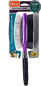 Hartz Groomers Best Grooming Tools, Combo Detangling Brush for Dogs