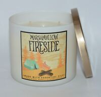 NEW BATH & BODY WORKS MARSHMALLOW FIRESIDE SCENTED CANDLE 3 WICK 14.5OZ LARGE